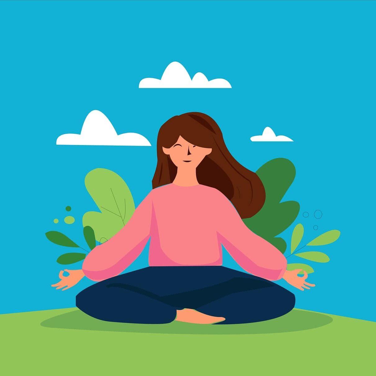 Yoga blue sky